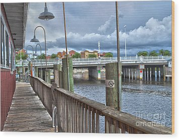 Naples Florida Waterfront Wood Print