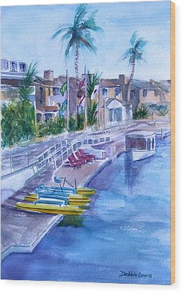 Naples Fun Wood Print by Debbie Lewis