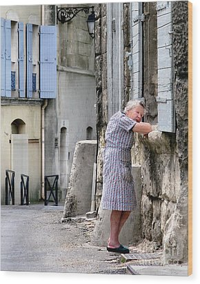 Wood Print featuring the photograph Naptime In Arles. France by Jennie Breeze