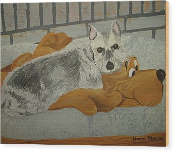 Naptime With My Buddy Wood Print by Norm Starks