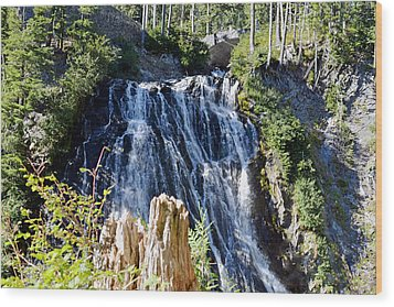 Wood Print featuring the photograph Narada Falls by Anthony Baatz