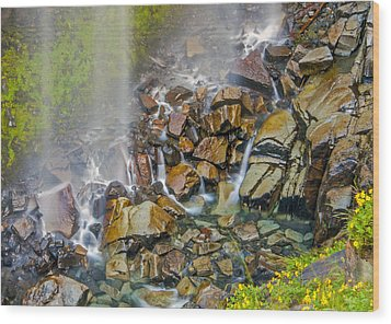 Narada Falls Mount Rainier National Park Wood Print
