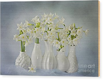 Narcissus 'paperwhites' Wood Print by Jacky Parker