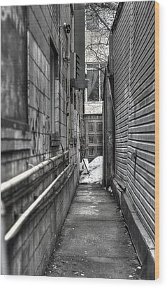 Narrow Alley Wood Print by Nicky Jameson