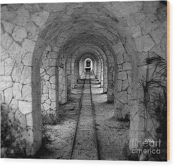 Arched Narrow Gauge Wood Print