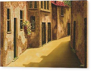 Narrow Street Wood Print