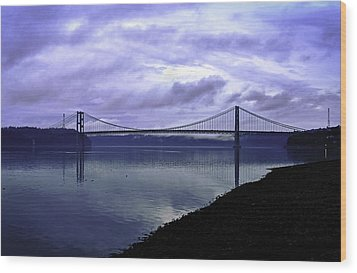 Wood Print featuring the photograph Narrows Bridge by Anthony Baatz