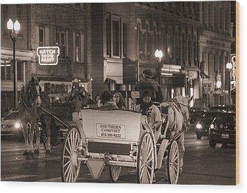 Nashville Carriage Ride Wood Print by John McGraw