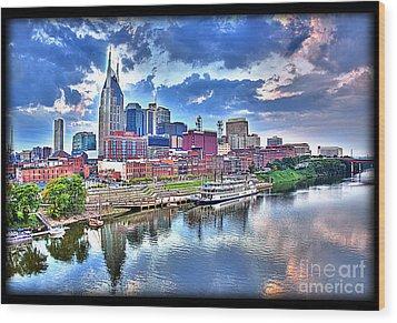 Nashville Wood Print by Jennifer Pinckney