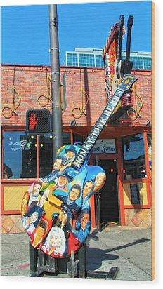 Nashville Legends Guitar Wood Print by Dan Sproul