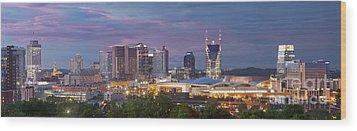 Nashville Skyline Wood Print by Brian Jannsen