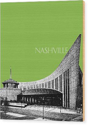 Nashville Skyline Country Music Hall Of Fame - Olive Wood Print