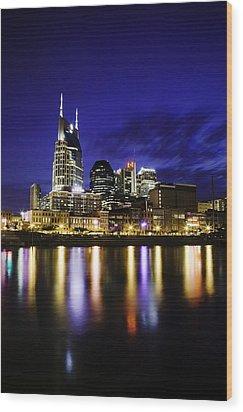 Nashville Skyline Wood Print by Lucas Foley