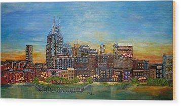 Nashville Tennessee Wood Print by Annamarie Sidella-Felts