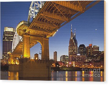 Nashville Tennessee Wood Print