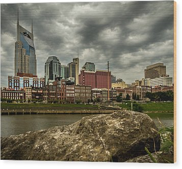 Nashville Tennessee Wood Print