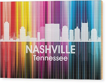 Nashville Tn 2 Wood Print by Angelina Vick