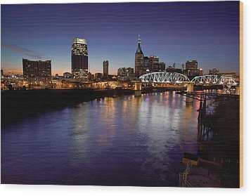 Nashville's River Wood Print