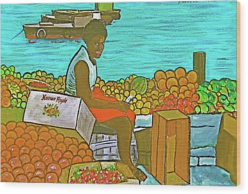 Nassau Fruit Seller Wood Print by Frank Hunter