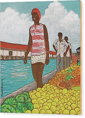 Nassau Woman Wood Print by Frank Hunter