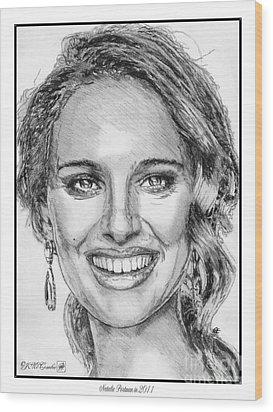 Natalie Portman In 2011 Wood Print by J McCombie