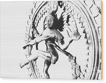 Nataraj Wood Print by Vineesh Edakkara
