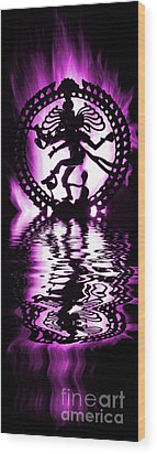 Nataraja The Lord Of Dance Wood Print by Tim Gainey
