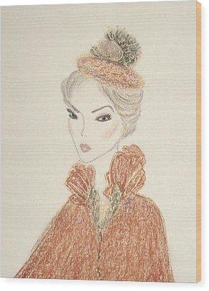 Natasha Wood Print by Christine Corretti