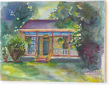 Natches State Cottage Wood Print
