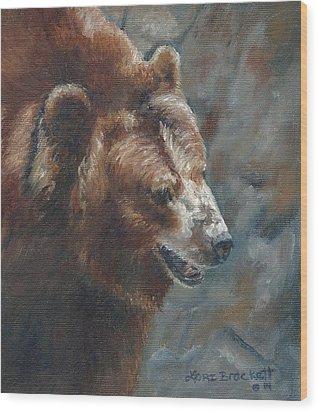 Nate - The Bear Wood Print
