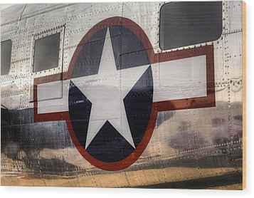 National Aircraft Insignia Wood Print by Steve Gravano