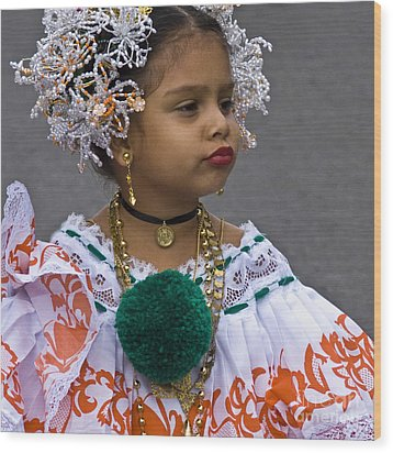 National Costume Of Panama Wood Print by Heiko Koehrer-Wagner