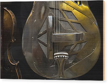 National Guitar Wood Print by Glenn DiPaola