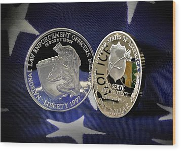 National Law Enforcement Memorial Mint Wood Print by Gary Yost
