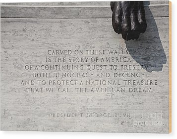 National Law Enforcement Officers Memorial Wood Print