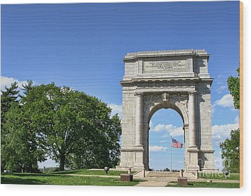National Memorial Arch At Valley Forge Wood Print by Olivier Le Queinec