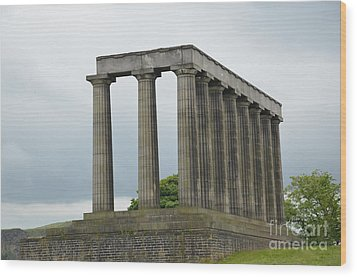 National Monument Of Scotland Wood Print