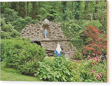 National Shrine Grotto Of Our Lady Of Lourdes Wood Print
