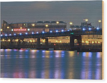 Wood Print featuring the photograph Nationals Park by Jerry Gammon