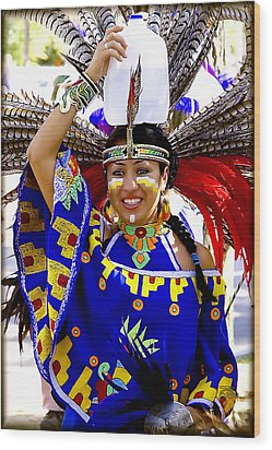 Native American Beauty Wood Print