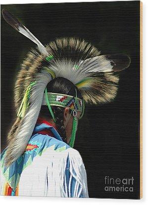 Native American Boy Wood Print by Kathleen Struckle