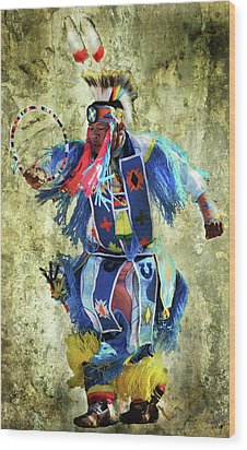 Wood Print featuring the photograph Native American Dancer by Barbara Manis