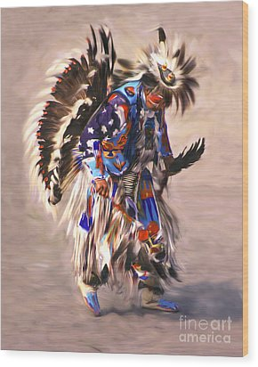 Wood Print featuring the photograph Native American Dancer by Clare VanderVeen