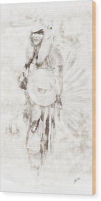 Wood Print featuring the digital art Native American by Erika Weber