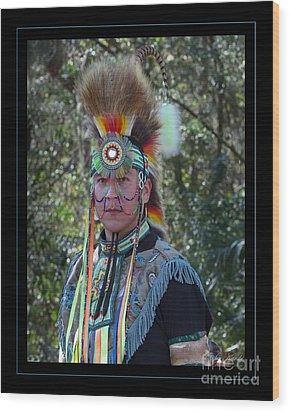 Native American Portrait Wood Print