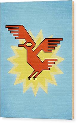 Native South American Condor Bird Wood Print