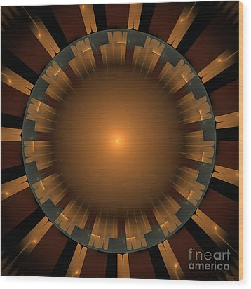 Native Sun Wood Print by Arlene Sundby