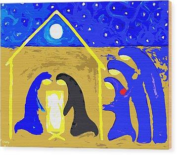 Nativity 2 Wood Print by Patrick J Murphy