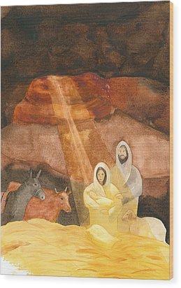 Nativity Wood Print by John Meng-Frecker