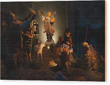 Nativity  Wood Print by Susan  McMenamin